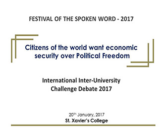 Citizens of the world want economic  security over Political Freedom