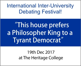 This house prefers a Philosopher King to a Tyrant Democrat