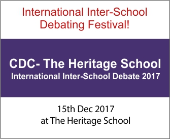 CDC-The Heritage School International Inter-School Debate 2017